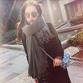 韓版圍巾女冬季學生長款百搭棉麻軟妹圍脖