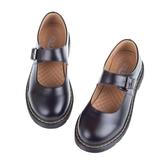 全館83折 一字搭扣學院風娃娃皮鞋日系瑪麗珍單鞋圓頭文藝復古女鞋森仆黑白