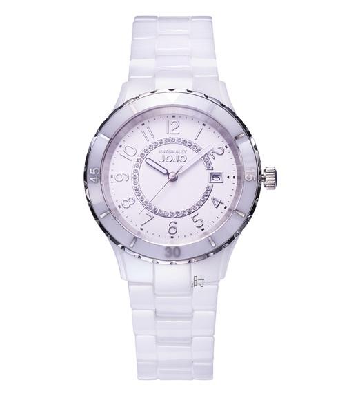 NATURALLY JOJO 閃耀晶鑽陶瓷錶 JO96974-80F