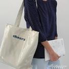 帆布側背ins風韓版日系透明PVC防水大容量學生上課簡約潮女士包袋 黛尼時尚精品