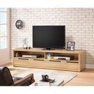 【森可家居】卡妮亞6.5尺電視櫃 7ZX387-2 長櫃 木紋質感 無印風 北歐風