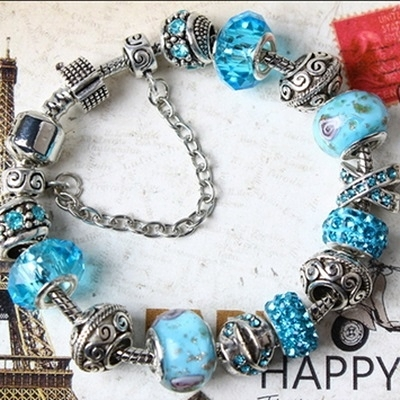 串珠手鍊-琉璃飾品天空的話語生日情人節禮物女配件73bm118【時尚巴黎】