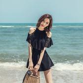泳衣 連體裙式 韓版性感遮肚顯瘦小胸聚攏泡溫泉保守大碼 GB5305『東京衣社』