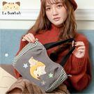 側背包~啵啵貓日系貓咪包 啵啵貓與好朋友賞月趣側背包/肩背包/手提包/拼布包包