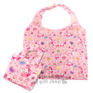 〔小禮堂〕美樂蒂 折疊式環保購物袋《粉....