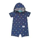 男寶寶短袖兔裝 純棉連帽連身衣 深藍昆蟲 | Carter s卡特童裝 (嬰幼兒/baby/新生兒)