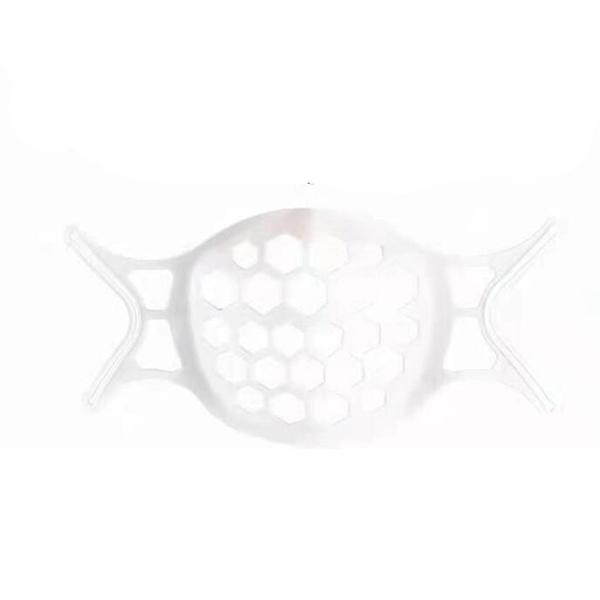[2玉山網] 3D立體口罩支架 白色 10入裝 矽膠口罩支架 口罩架 防掉支撐架 透氣支架_JC06