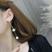 珍珠耳線簡約長款吊墜個性百搭耳墜