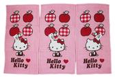 【卡漫城】 Hello Kitty 毛巾 三條一組 蘋果版 ㊣版 童巾 100%純棉 台灣製 凱蒂貓 三麗鷗 小毛巾