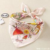 寶寶絲巾兒童真絲圍巾桑蠶絲女童公主小方巾嬰兒三角巾