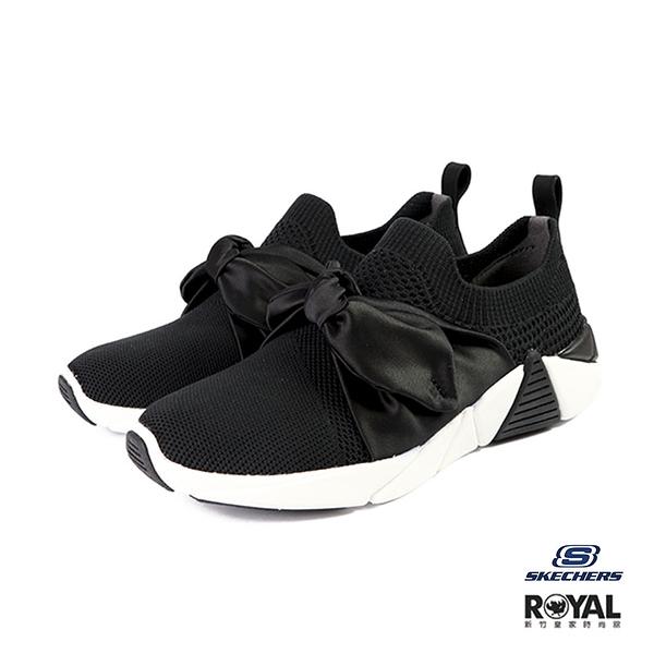 Skechers A-line 黑色 網布 蝴蝶結 休閒運動鞋 女款 NO.I9778【新竹皇家 68849BLK】