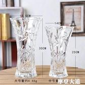 新歐式大號玻璃透明花瓶水培植物富貴竹綠蘿客廳仿真插花裝飾擺件『摩登大道』
