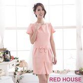 【RED HOUSE-蕾赫斯】甜美蝴蝶結洋裝(粉色)