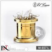 『ART小舖』西班牙El Casco騎士文具 M-657 磁吸式迴紋針收納器 收納盒 23KT金色