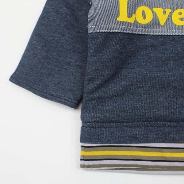 【愛的世界】丹寧感鋪棉上衣/6~8歲-台灣製- ---秋冬上著