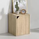 書櫃 收納 堆疊 置物櫃【收納屋】簡約加高單門櫃-淺橡木色& DIY組合傢俱