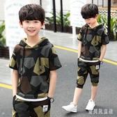 兒童裝男童夏裝運動套裝中大童13男孩短袖衣服時尚休閒兩件套潮 yu12626『寶貝兒童裝』
