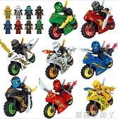 2021年新品益智力幻影忍者人仔小人偶男孩樂高積木拼裝玩具摩托車 NMS蘿莉新品