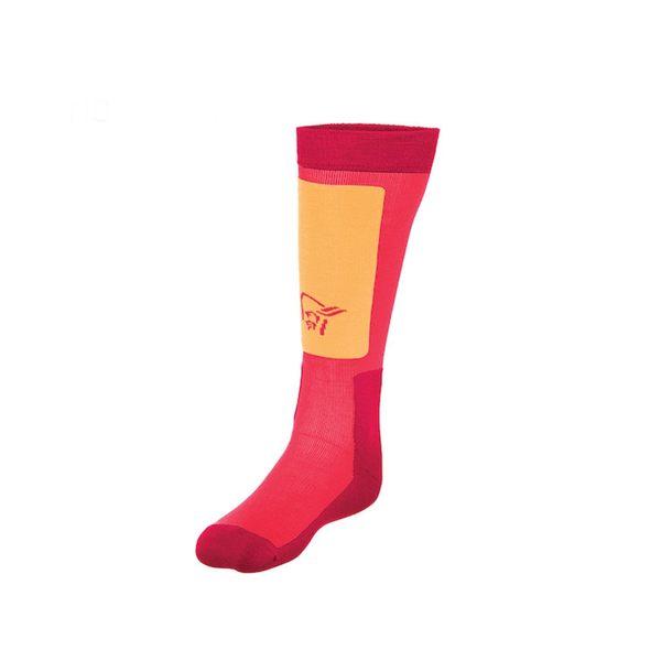 Norrona 老人頭 lofoten Mid Weight Merino Socks 美麗諾羊毛滑雪襪 中厚 寶石紅