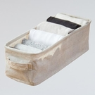 森 棉麻隙縫收納盒S3089-6(12x13x37cm)【愛買】