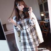 秋冬季毛呢洋裝女新款韓版名媛小香風氣質打底A字裙子  凱斯盾數位3c