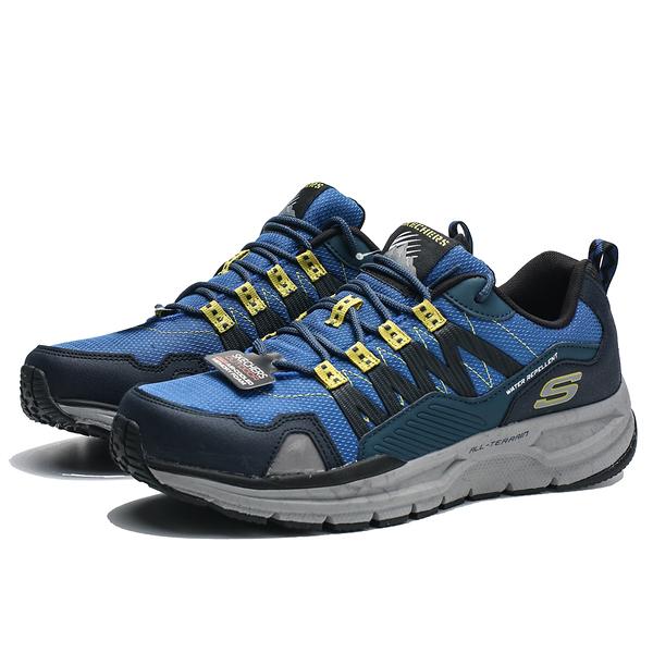SKECHERS  ESCAPE PLAN 2.0  2.0 藍 黃 防潑水  大理石 戶外越野鞋  男(布魯克林) 51926NVLM