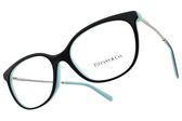 Tiffany&CO.光學眼鏡 TF2168F 8055 (黑銀-蒂芬尼藍) 俐落貓眼款 眼鏡框 # 金橘眼鏡
