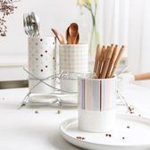 碗   創意日式陶瓷筷子筒三筒筷籠筷子架 家用筷子瀝水架  瑪奇哈朵