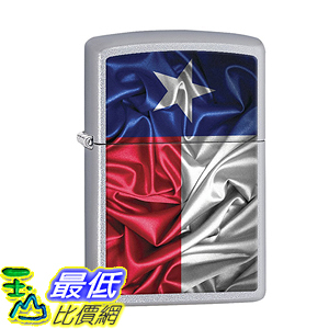 [美國直購] Zippo Lighter: Texas State Flag - Satin Chrome 打火機