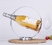 不銹鋼紅酒架紅酒托簡約創意吧台圓型酒架 葡萄酒架洋酒架擺件「鹿角巷YTL」