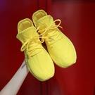 2020流行女生透氣運動鞋夏糖果色飛織襪子鞋韓版休閒涼網鞋港風潮 蘿莉小腳丫