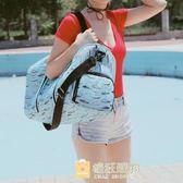 時尚運動健身旅行包女大容量長短途旅游包登機包正韓旅行袋行李包  一件免運
