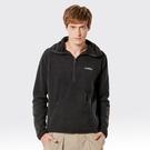 【SAMLIX 山力士】中性款保暖連帽刷毛上衣(#035綠色.黑色)