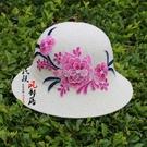 沙灘帽 新款時尚民族風刺繡可折疊女士透氣棉麻防曬遮太陽帽子沙灘帽盆帽