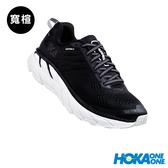 【線上體育】 HOKA ONE ONE女 Clifton 6 wide 路跑鞋  黑/白