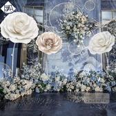 婚禮小物 高端婚慶路引花布置道具網紅創意櫥窗仿真手工卡紙大型立桿花裝飾-快速出貨