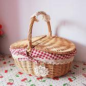 郊游野餐小籃子踏青野炊踏春ins網紅野餐用品備編織籃面包菜 台北日光