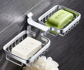 肥皂盒 免打孔浴室置物架太空鋁肥皂盒壁掛肥皂網瀝水香皂盒肥皂架衛生間
