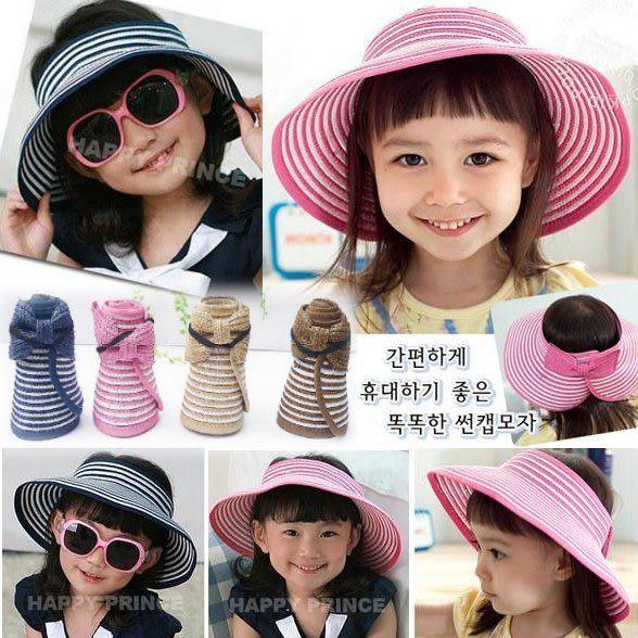 *甜蜜蜜親子童裝*百搭《甜美條紋款》造型空頂帽~遮陽帽~
