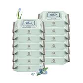 韓國 Enblanc 頂級柔緻純水有蓋攜帶裝濕紙巾-藍鳶尾花萃取物20抽12包(箱購)