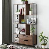 簡約現代書櫃 多功能臥室落地小書架 家用客廳創意省空間置物架 KV2152 『小美日記』