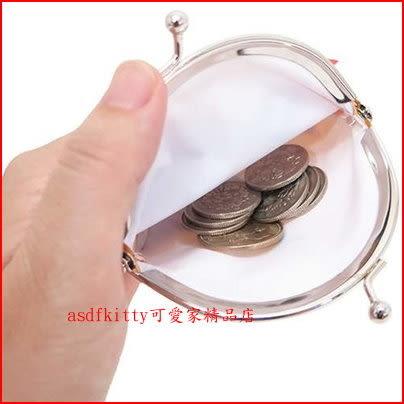 asdfkitty可愛家☆KITTY臉型雙珠扣零錢包-防水材質-可當印章袋-日本正版商品