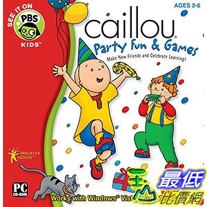 [106美國暢銷兒童軟體] Caillou Party Fun and Games Software [Old Version]