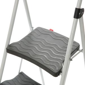 特力屋 四階寬踏板鐵梯 灰色