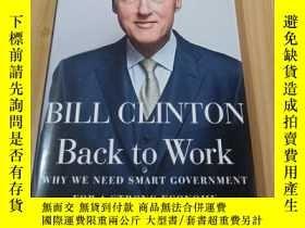 二手書博民逛書店BILL罕見CLINTON Back to Work【毛邊本】Y
