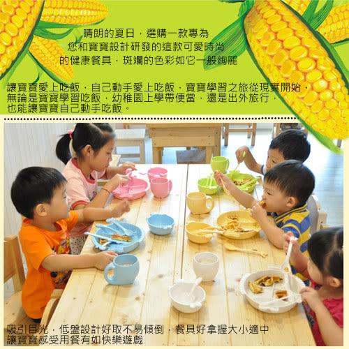 【Cornflower玉米花】浪漫花草玉米餐具-玉米花碗+矽膠保鮮蓋-1入