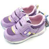 《7+1童鞋》中童 日本月星MOONSTAR 輕量透氣 運動鞋 機能鞋 C456 紫色
