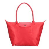 LONGCHAMP長提把中型厚尼龍水餃包(亮紅色)480159-A27