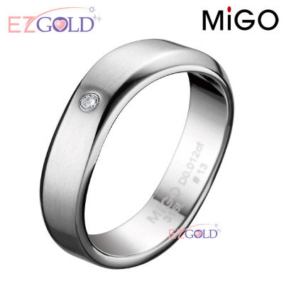 MiGO鋼飾♥Flowing流水♥鋼飾鑽石戒指(男)