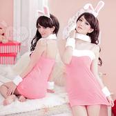 角色扮演 情趣用品 頑皮女郎!甜美兔女郎五件組﹝粉﹞ Cosplay【530042】